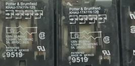 LOT OF 7 POTTER & BRUMFIELD KHAU-17A11N-120 RELAY 120V, 50/60HZ, KHAU17A11N120 image 2