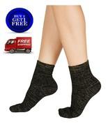 I.N.C. Cozy Ribbed Shimmer Fashion Socks One Size Black - NWT - $5.82