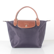Longchamp Le Pliage Small Short Handel Nylon Handbag Bilberry 1621089645 - $75.00