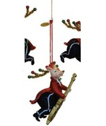 Katherine's Collection Reindeer Christmas Ornament Cello tuxedo band - $27.99