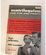RARE VENTRILOQUISM FOR FUN AND PROFIT BY PAUL WINCHELL INSPIRED BY JERRY... - $70.13