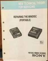 Sony Repairing Mini Disc Mini Disc MD   Theory Service Manual *Original* - $16.60