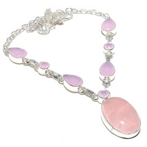 "Rose Quartz, Pink Jade Gemstone Jewelry Necklace 18"" RN106 - $9.99"
