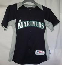 Seattle Mariners ICHIRO SUZUKI mlb Baseball Jersey Majestic YOUTH Sz Large - $24.74