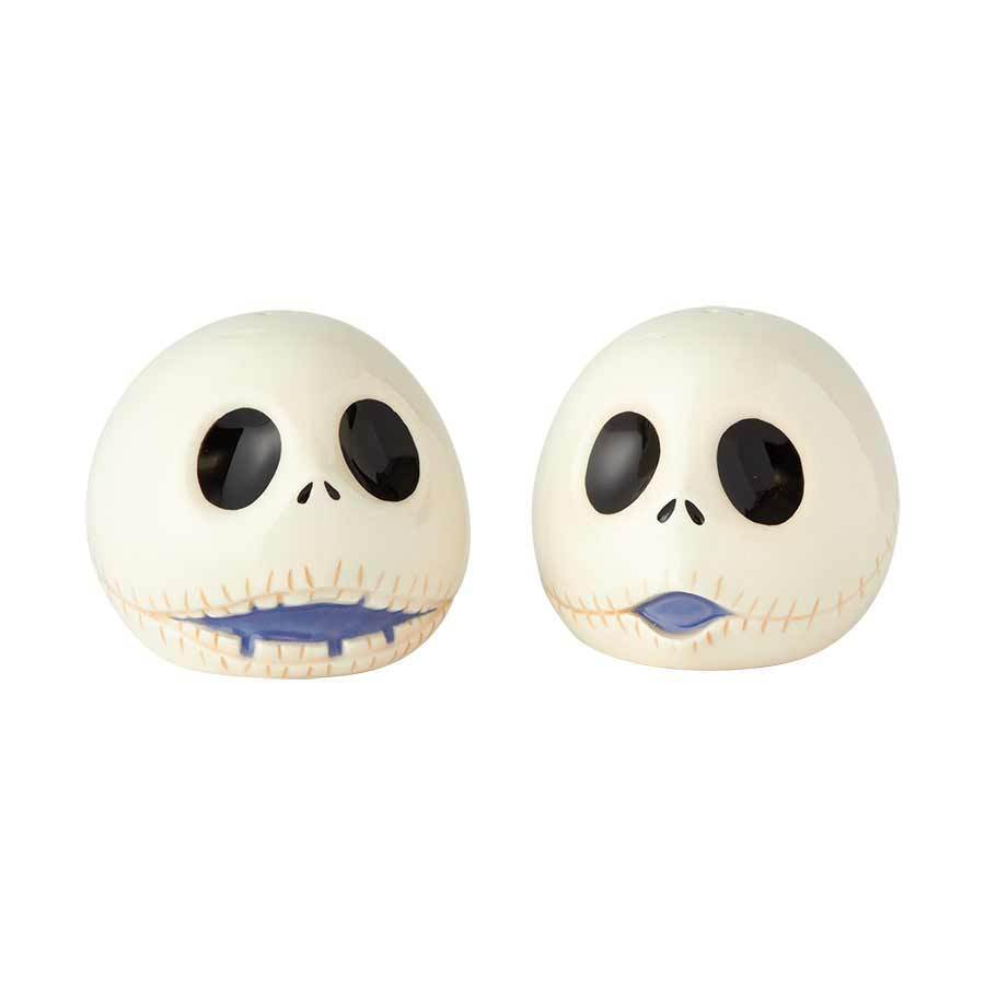 The Nightmare Before Christmas Jacks Heads Ceramic Salt & Pepper Shakers Set NEW