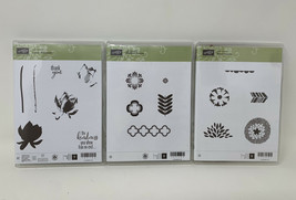 Stampin Up Lot 3 Lotus Blossom Madison Avenue Petal Parade Stamp Set Cra... - $29.69