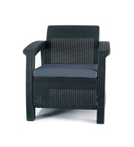 Keter Corfu Armchair All Weather Outdoor Patio Garden Furniture with Cus... - $103.30