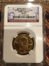 NGC MS 69 2008 P SMS John Quincy Adams $1 – 6th President - $70.00