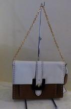 $228.00 Lauren Ralph Lauren Heyworth Convertible Clutch, Vanilla/ Tan - $77.47