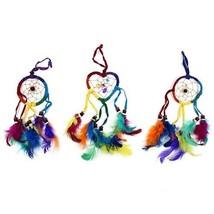Funky  small Bali Dreamcatchers-Small Heart-Rainbow  -cars/homes/caravans - $6.60