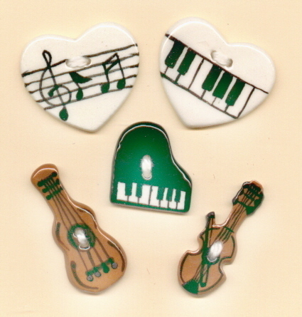 Decorative Handmade Ceramic Button     MUSICAL  Series
