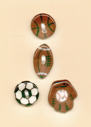 Decorative Handmade Ceramic Button     SPORTS  Series