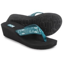 Women's Teva Mush Mandalyn 2 Deep Teal Blue Flip Flops   7  - $28.98