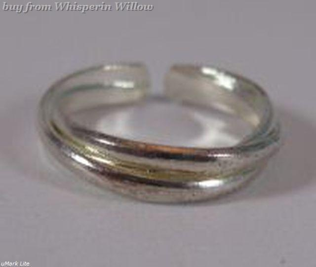 Silver Plated Rope Band Toe Ring