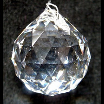 20mm Clear Faceted Ball image 2