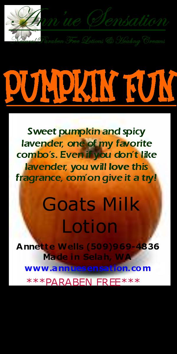 Pumpkin fun goats milk lotion