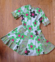 OILILY LIME Green Cotton Dress Fun Ruffled POSIES Euro 146 Girls US 10-1... - $72.48