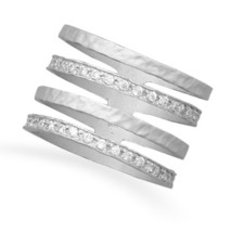 Sterling Silver and CZ Multi Band Ring - $76.99