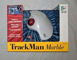 NEW Vintage Logitech TrackMan Marble + Trackball Mouse Model T-CL13 804269 - €56,96 EUR