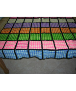 Vintage Woven Patchwork Wool Baby Blanket Throw Multicolor - $40.00