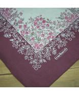 "Vintage CACHAREL Floral Tablecloth Square 52""  Square Cotton - $75.00"
