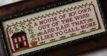 A House Of My Own cross stitch chart New York Dreamer