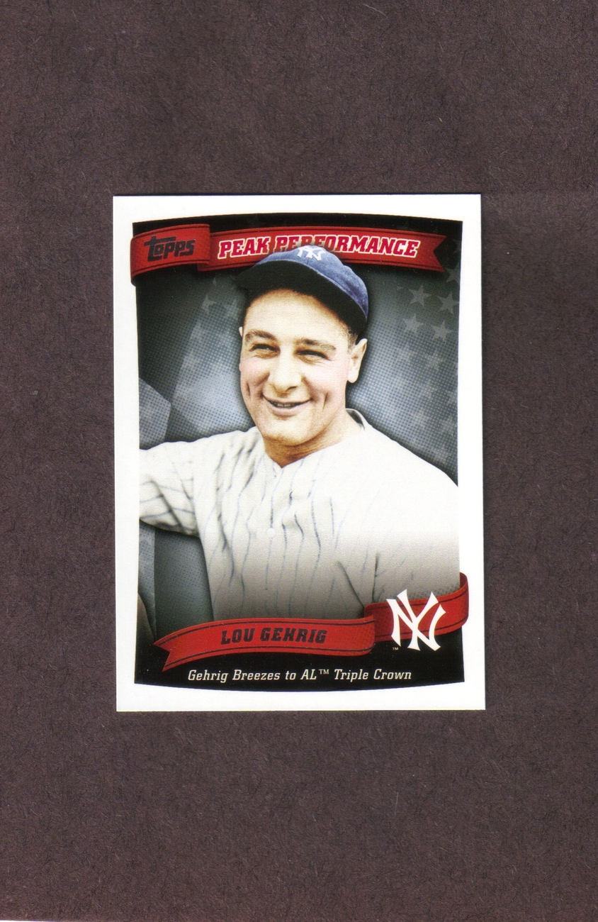 2010 Topps #PP12 Lou Gehrig Peak Performance Yankees