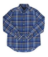 RALPH LAUREN NEW KIDS BOYS PONY BLUE PLAID BUTTON FRONT OXFORD SHIRT M 1... - $29.69