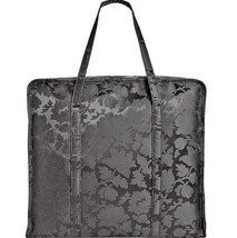 Steve Madden NWT Black Stella Market Fabric Over Sized Tote Foliage Flor... - $23.75