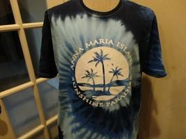 Vtg Blue Anna Maria Island Sunshine Paradise Beach Palm Tree Tie-Dye T-s... - $28.70