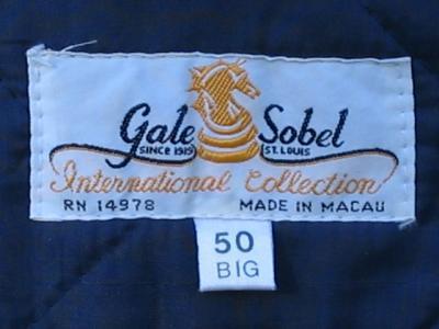 GALE SOBEL PLAID LINED JACKET COAT SZ 50 BIG MENS