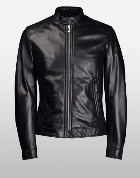 New Men's Genuine Lambskin Leather Jacket  Slim fit Biker Motorcycle jacket-G29