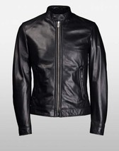 New Men's Genuine Lambskin Leather Jacket  Slim fit Biker Motorcycle jacket-G29