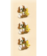 Decorative Handmade Ceramic Button    SWEET SPOTTED PUPPIES - $6.00