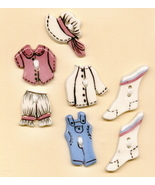 Decorative Handmade Ceramic Buttons Country Clothing - $14.00
