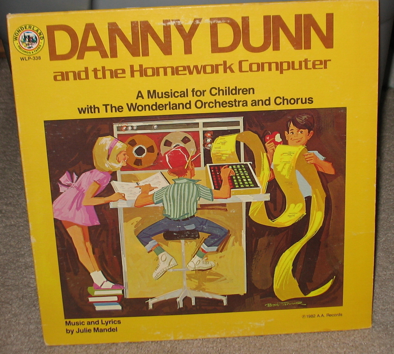 Danny Dunn and the Homework Computer LP - WLP 338 -1982