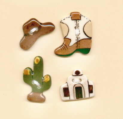Decorative Handmade Ceramic Button    COUNTRY WESTERN Series