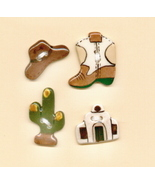 Decorative Handmade Ceramic Button    COUNTRY WESTERN Series - $8.00
