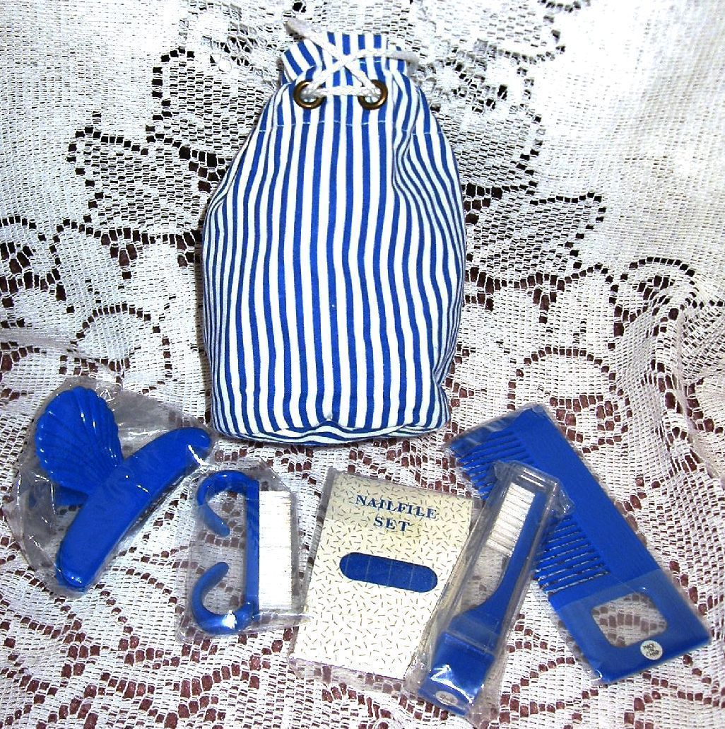 Bath & Body Works Tote Canvas Beach Bag Carry All Lined with Manicure Set Pouch