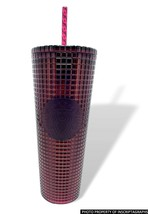 Starbucks 2020 Holiday Berry Plum Studded Grid Disco Cold Cup Venti 24 oz. - $55.21