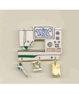 Ceramic Sewing Machine Pin  Bernina  200 Handcrafted - $14.95