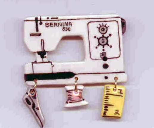 Ceramic Sewing Machine Pin  Bernina 830 Handcrafted