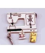 Ceramic Sewing Machine Pin  Bernina 830 Handcrafted - $14.95