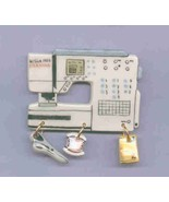 Ceramic Sewing Machine Pin  Bernina Activa 145 Handcrafted - $14.95