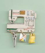 Ceramic Sewing Machine Pin Bernina My Choice 155 Handcrafted - $14.95