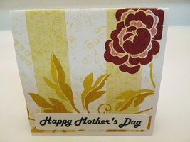 Handmade Happy mother's day greeting card,yellow and green - $3.50