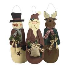 Primitive Holiday Character Hangers | Snowman | Reindeer | Santa | Chris... - $21.95