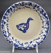 "Tienshan Pottery Animals Pattern  Goose Salad Plate 7.625"" Wide Spongeware - $7.99"