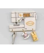 Decorative Ceramic Sewing Machine Pin  Ellure Handcrafted - $14.95