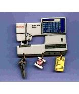 Ceramic Sewing Machine Pin  Janome MC 11000 Handcrafted - $14.95